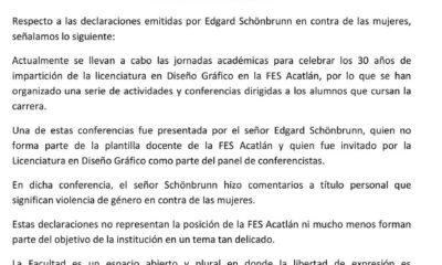 Dichos misóginos de conferencista en la FES Acatlán.