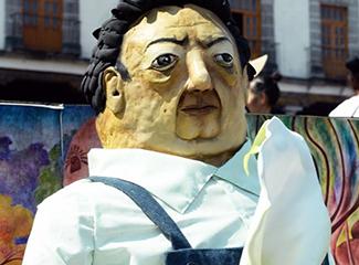 Diego Rivera es homenajeado en las ofrendas de hoy