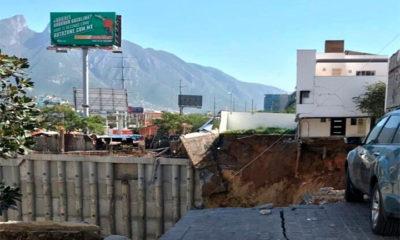 Reportan derrumbe en Monterrey