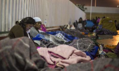 Migrantes en la ciudad de Tijuana Foto: Claroscuro