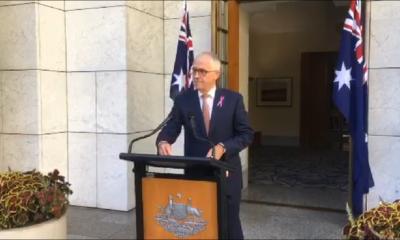 Malcolm Turnbull, primer ministro australiano en conferencia de prensa. Foto: Twitter