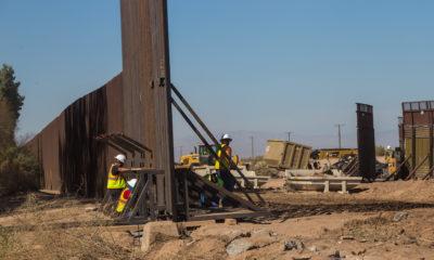 Aspectos de la reparación del muro fronterizo entre la capital del estado y Calexico, California Estados Unidos. Foto: Cuartoscuro