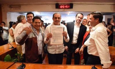 Cuauhtémoc Blanco se registró como candidato a la gubernatura de Morelos