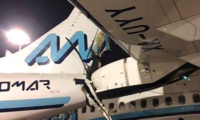 Se estrellan dos aviones de Aeromar