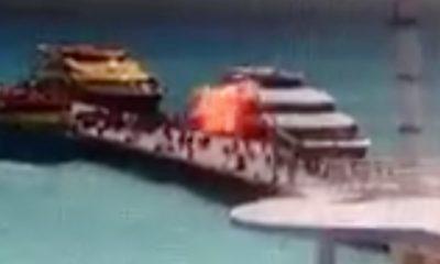Explosión en Ferry en Playa del Carmen