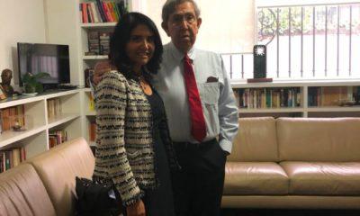 Alejandra Barrales con Cárdenas