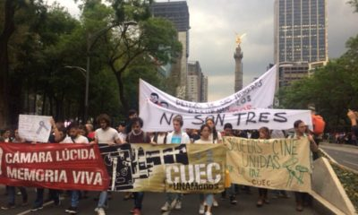 Marcha por estudiantes de cine desaparecidos
