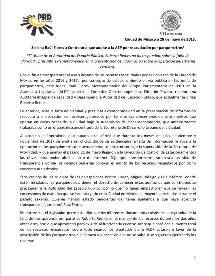 PRD pide auditar a Remes 1