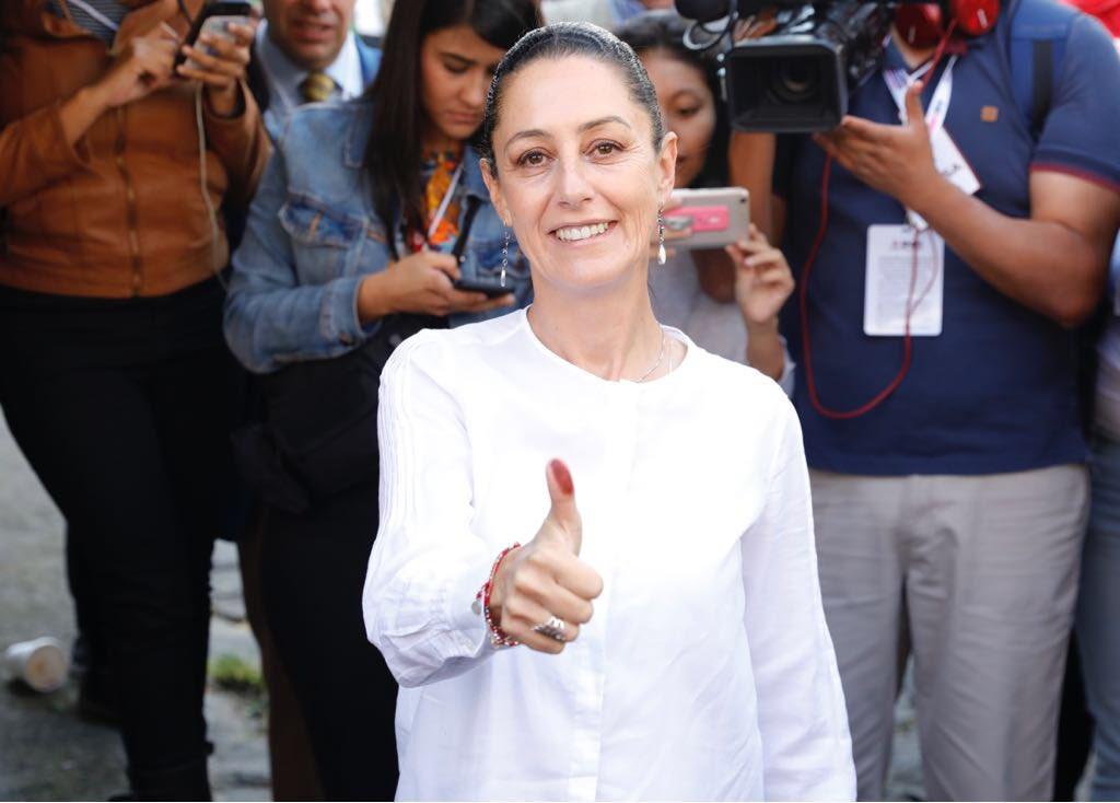 Claudia gana la elección