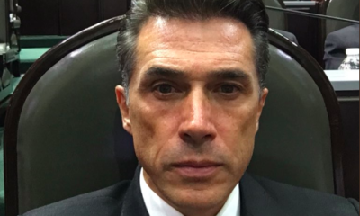 Ponen trampa a Sergio Mayer, cae, se burlan; 'ni pex', responde