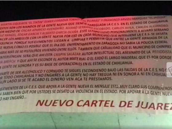 narcomantas Juárez