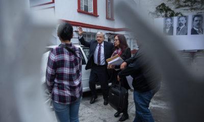 CIUDAD DE MÉXICO, 31AGOSTO2018.- Andrés Manuel López Obrador, presidente electo de México, durante la conferencia de esta mañana en su casa de transición. FOTO: ADOLFO VLADIMIR /CUARTOSCURO.COM