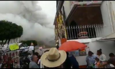 Explosión de pirotecnia en Coyoacán