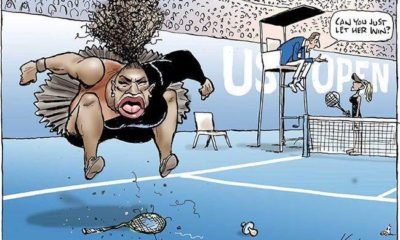 Caricatura contra Serena Williams desata polémica