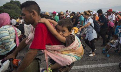 Caravana migrante, Juchitán, Oaxaca