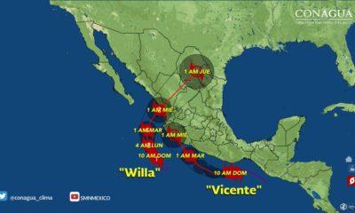 Willa, huracán categoría 1, Pacífico