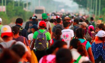 Caravana migrante divide