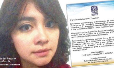 Maria del Rosario, UNAM, asesinato