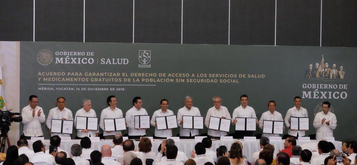 AMLO firma acuerdo con gobernadores del sureste para garantizar Derecho a la Salud