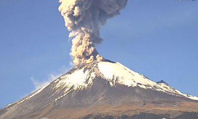 Popocatépetl, explosión