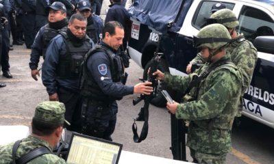 SEDENA revisa a policía de Morelos