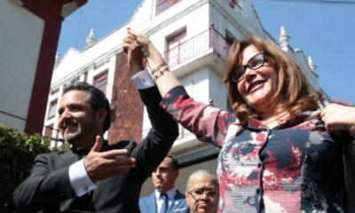 Villalobos Adán tomó protesta como presidente de Cuernavaca esta tarde junto a Yeidckol Polevnsky