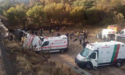 autobús volcado San Luis
