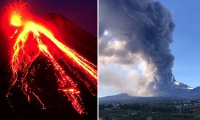 Volcán, Etna, Italia, Erupción, fuego, explosión, cinturón de fuego, magma, incadescente, ceniza