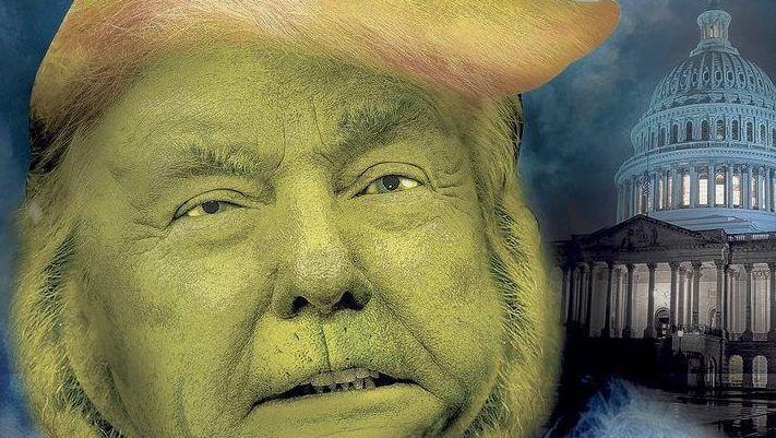 Donald Trump se convierte en el Grinch para un pequeño