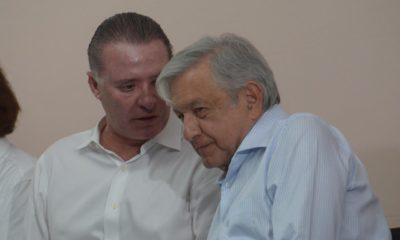 AMLO se encuentra de gira en Sinaloa, lo acompañó el gobernador Quirino Ordaz