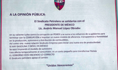 "Romero Deschamps apoya ""valiente lucha"" de AMLO contra huachicoleo"