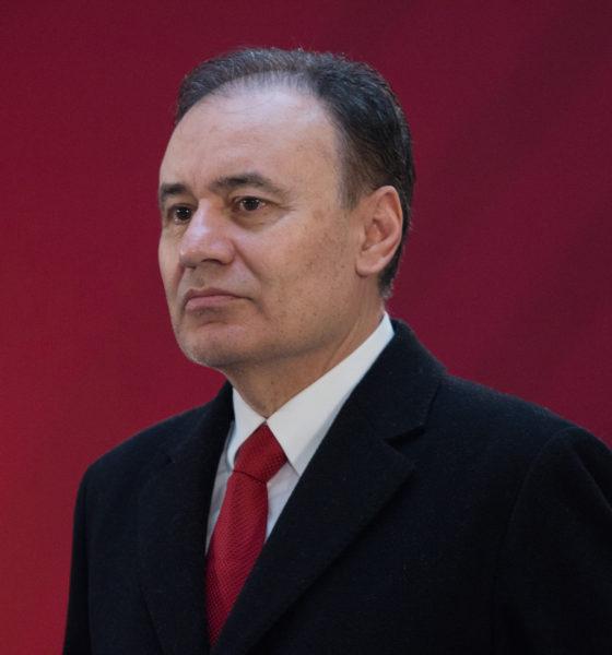 Alfonso Durazo durante la Conferencia matutina de AMLO