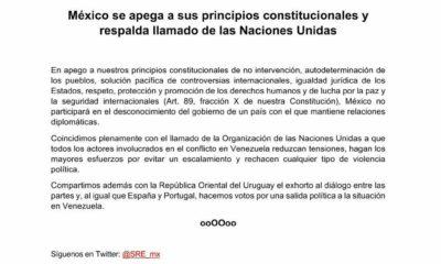 México, Uruguay, Venezuela, Andrés Manuel, López Obrador, Juan Guaidó, Guaidó, Maduro, Nicolas, Nicolas Maduro, Problema, sociedad, golpe de estado,