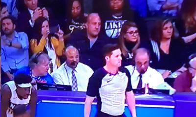 Alfaro acude a encuentro con migrantes y es captado en partido de Lakers