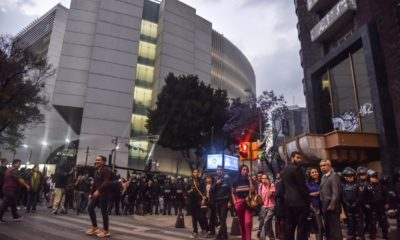 CNTE bloquea sesión en el Senado sobre reforma educativa