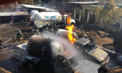 Incendio de dos pipas Milpa Alta deja 6 lesionados