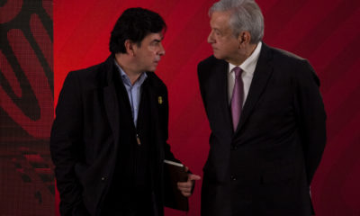 Jesús Ramírez y AMLO, en conferencia mañanera