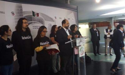 Emilio Álvarez Icaza y el colectivo de organizaciones que cuestionan la terna