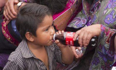 Niño tomando refresco de Cola
