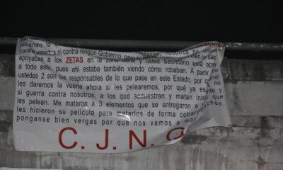 Cártel Jalisco Nueva Generación, Jalisco, Nueva Generación, narco, mantas, narco mantas, SSP, Veracruz,