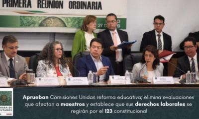 Diputados aprueban dictamen de reforma educativa; pasa a comisiones