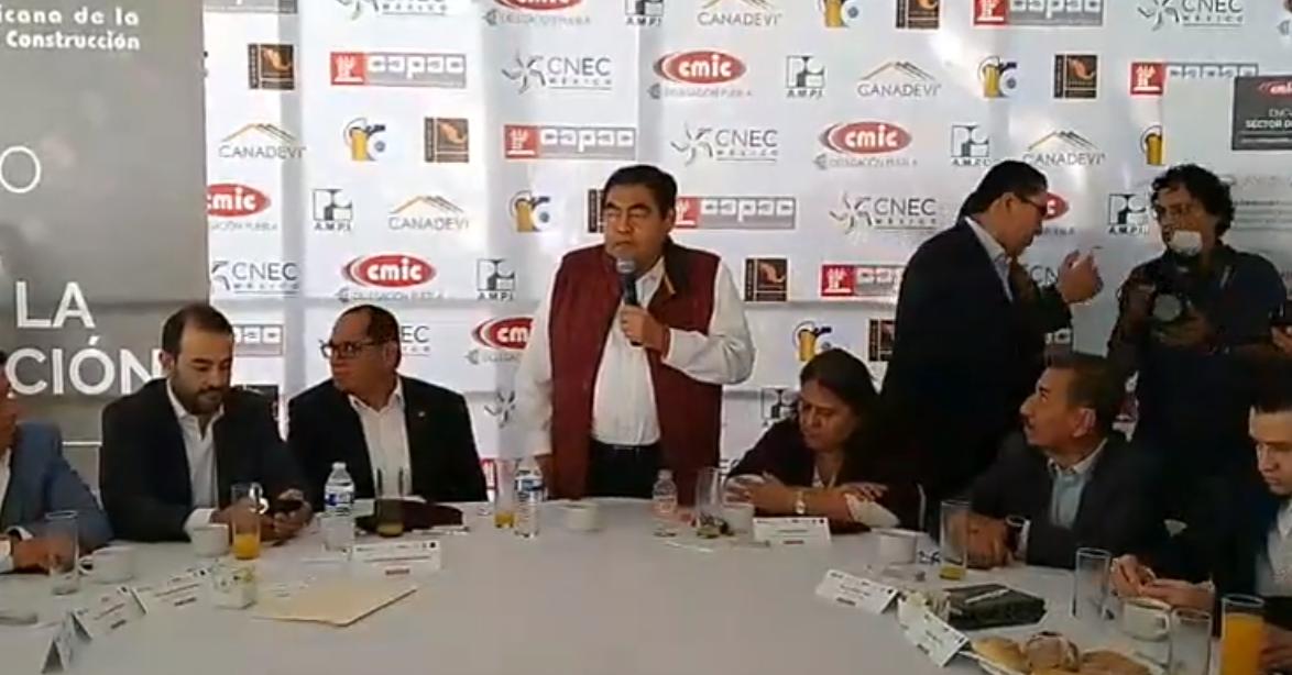 Miguel Barbosa Obra pública Puebla