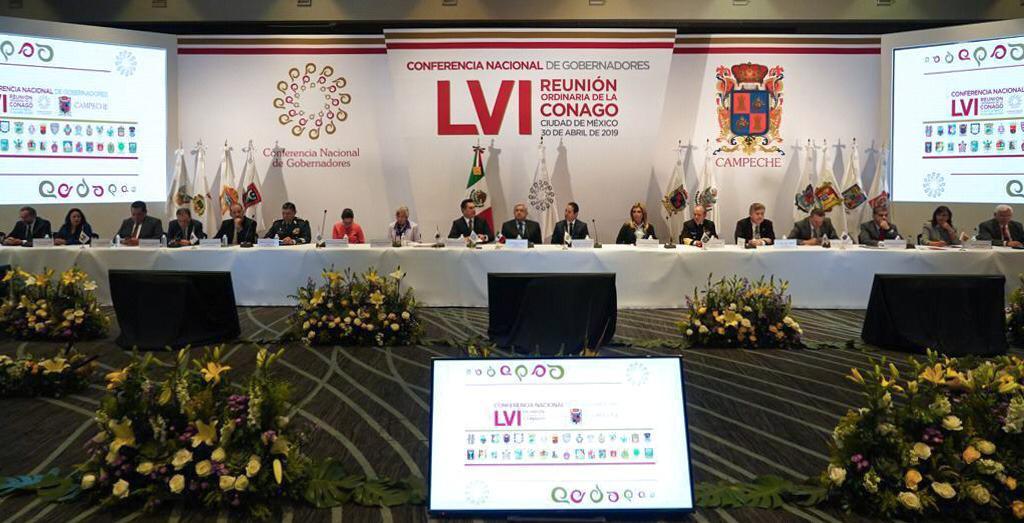Migrantes, CONAGO, Gobernadores, Gobernadoras, Campeche, AMLO, López Obrador, Sheinbaum, Bronco, Estados,
