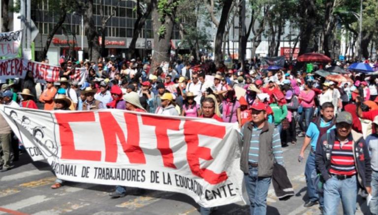 Maestro, CNTE, Marcha, CDMX, Chiapas, Guerrero, Estado de México, Oaxaca, Paro, Movilización,