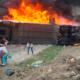 Se incendia camión de pasajeros en autopista Puebla-Veracruz/ La Hoguera