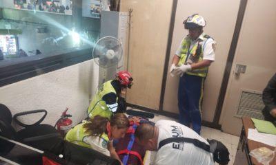 Metro CDMX Metro Chabacano descarga eléctrica