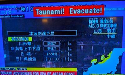Tras sismo en Japón activan alerta de Tsunami/ La Hoguera