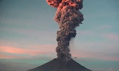 Popocatépetl, Explosión, Columna de Humo, Ceniza, Estado de México, Puebla, Morelos,