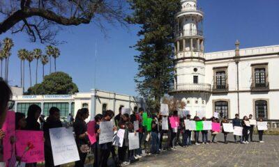 Protestan en la Universidad de Chapingo por feminicidio de Nazaret