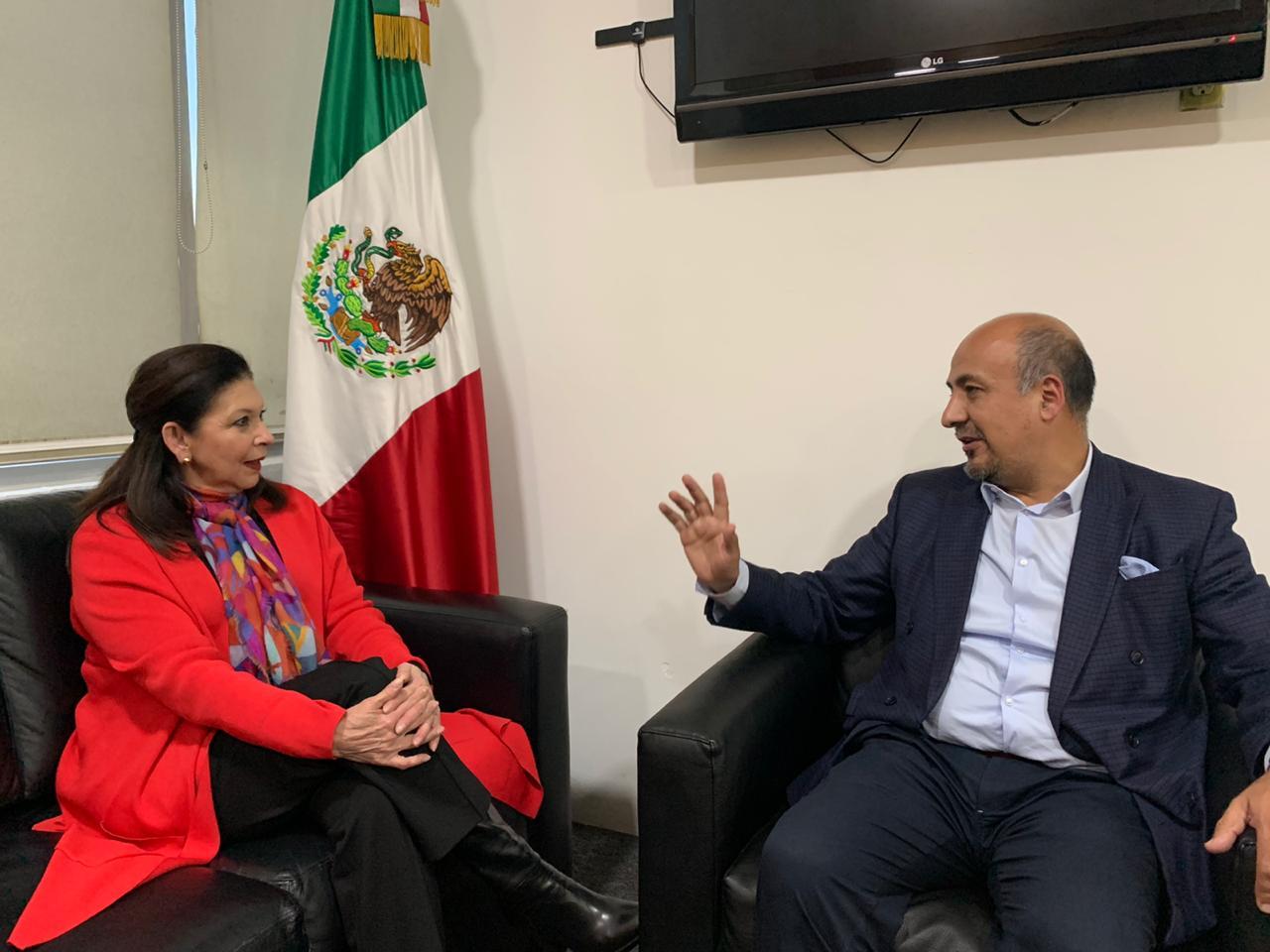 María Teresa Mercado arriba a la Ciudad de México